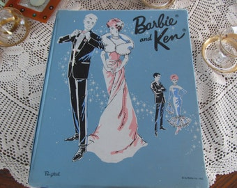 1963 PONYTAIL Barbie and Ken Carrying Case Barbie Wardrobe Trunk Barbie Case 1960s Barbie Doll Ken Doll Storage Case Barbie Birthday Gift