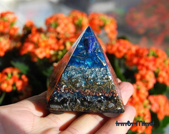 FREE Shipping ! Orgone Orgonite® Pyramid Lapis Lazuli