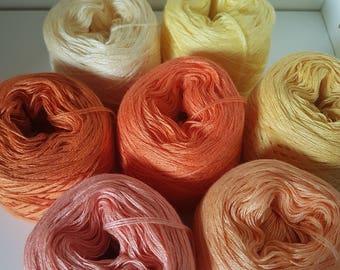 7 x Zwergenbobbel lace yarn knit crochet handmade