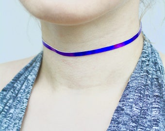 Holo Purple Choker - TinyLittlePiecesShop