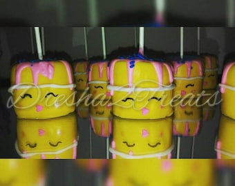 Shopkins (wishes cake) Marshmallow pops