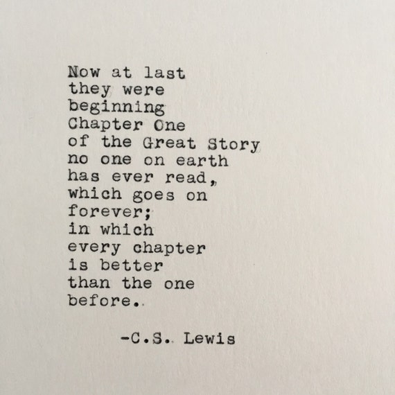 Cs Lewis Quotes New Beginning: C.S. Lewis Love Quote Chronicles Of Narnia Typed On