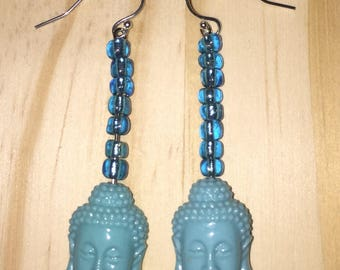 Blue Mediation Reminder earrings