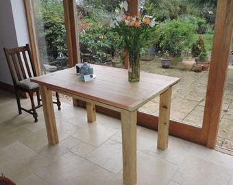 Customhand made chunky dining room or kitchen table made chunky dining room kitchen table made from solid reclaimed timber customhand made watchthetrailerfo