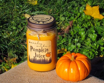 Pumpkin Juice woodwick soy candle