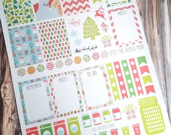 SALE! Christmas planner stickers - Erin Condren - Happy Planner - monthly weekly stickers - holiday - full sheet - December planner stickers