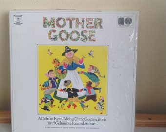 Vintage sealed, unused Mother Goose Children's-record-and-book set, rare