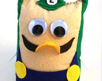 Mario Bros. Owls - Luigi Plush Stuffie Doll