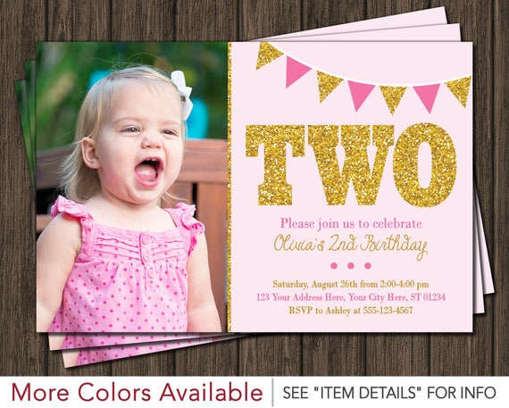 2nd Birthday Invitations Sivandearest