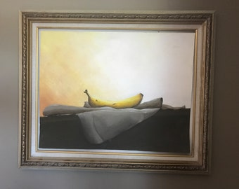 Painting of Banana- 15x19in Gouache