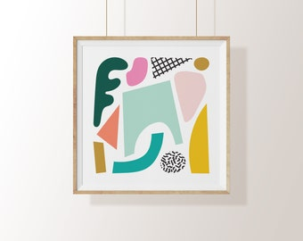 Abstract Collage Print