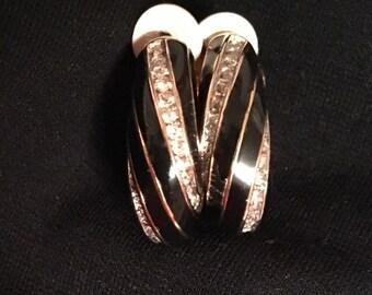 Nina Ricci Black & Gold Earrings