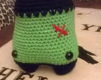 baby frank,frankensteins monster,handmade,crochet,halloween