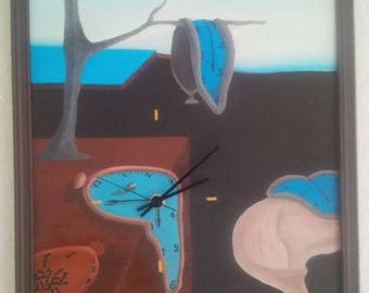 Melting time - Salvador Dali - image with functioning movement.