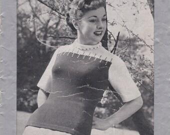 Vintage 1940s - Paton's Knitting Pattern No 294 For Women/Ladies - Original Pattern