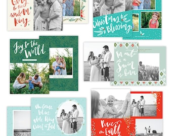 Christmas Photocards Bundle - INSTANT DOWNLOAD - E1372
