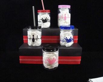Bowling Plastic Mason Jars, Team Parties, Bowling Cups, Kids  Cups, Sports Parties, Bowling Parties, Party Favor- 12 or 16 oz jars