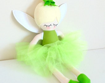 Tinkerbell doll, fairy doll, ragdoll, fabric doll, soft toy, cloth doll, ce baby toy, ce doll, girls birthday gift, christmas