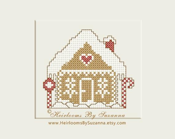 Gingerbread House Machine Cross Stitch Design Machine