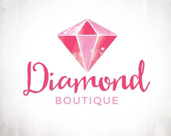 Premade Logo Design • Watercolour Diamond