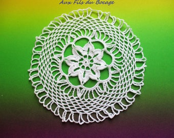 Doily dream catcher for white N13 16 cm