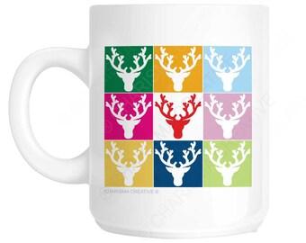 Christmas Reindeer Novelty Fun Mug CH418