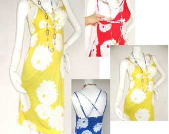 Maternity Dress / Nursing Dress / Breastfeeding Dress /YELLOW Dress/ Peony Flower NEW / Nursing Clothing / Maternity Clothes