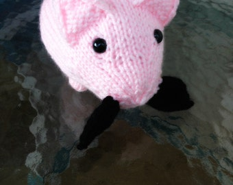 Made to Order Pedro the Pig - Mustache Piggy - Amigurumi Desk Buddy Easter Gift