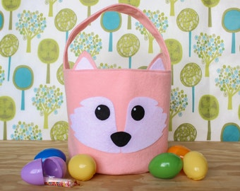 Fox basket etsy fox easter basket woodlandwoodland animals easter basket ideas easter gift ideas negle Image collections