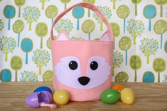 Fox easter basket woodlandwoodland animals easter basket like this item negle Choice Image