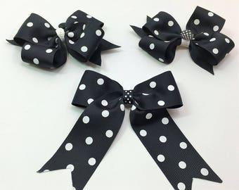 Black Dot Boutique Hair Bows, Hair Bows For Girls, Hair Clips, Girls Hair Bows,#HB-28-30,