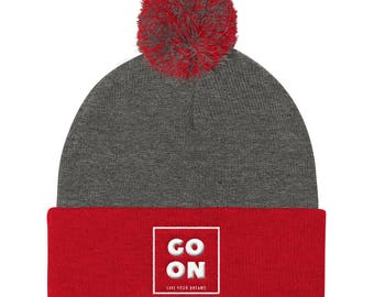Go On Live your dreams winter beanie