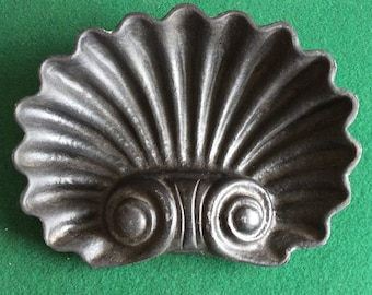 Shell form hall tree drip or umbrella pan Victorian