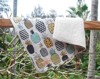 LOVEY * Pineapple * Kona Cotton * Organic Sherpa * Security Blanket *