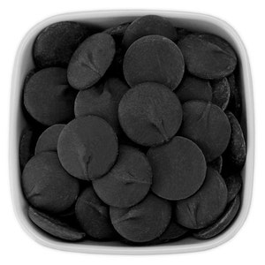 Black Candy Melts 1 LB - deep black melting chocolate wafers for cakepops or chocolate making