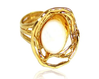 Pearl Ring | GOLD Filled ring | pearl jewellery | june birthstone