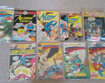 Superman comic book lot early 70s