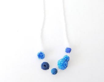Necklace Beads , shapes necklace, every day necklace, Blue ,  jewellery, gift, beads jewellery, glass beads necklace, for her,