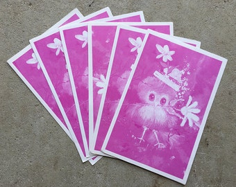 Vintage   Blank Cards   Notelets   Purple Bird