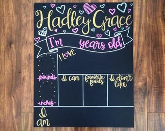 Hand Lettered Monthly Milestone Canvas Chalkboard