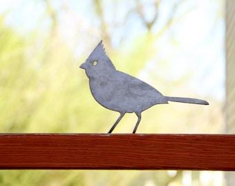 Metal Bird Statue - Cardinal |  rustic outdoor decor yard art gift for gardener