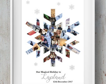 Lapland Snowflake Photo Montage