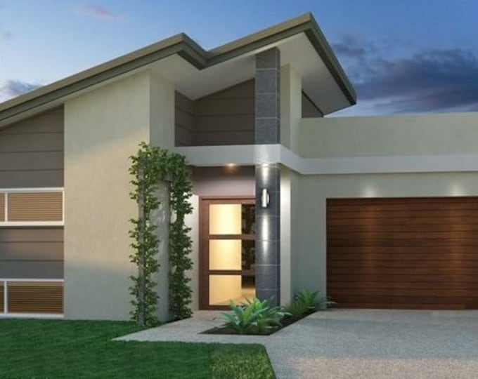 220 m2 |4 Bed Narrow Lot House Plan|Narrow Lot |Home Design | -floor plan with  MEDIA ROOM|  4  Bedrooms
