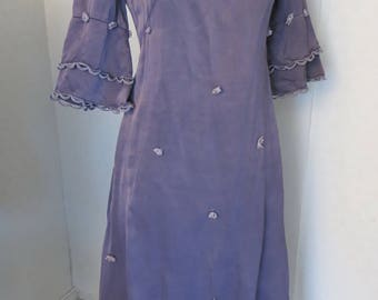 60s 70s vintage wedding dress gown Dyed purple As is