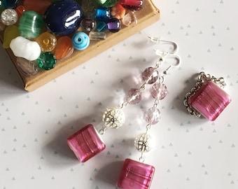 Pendant Murano Glass earrings + Ring