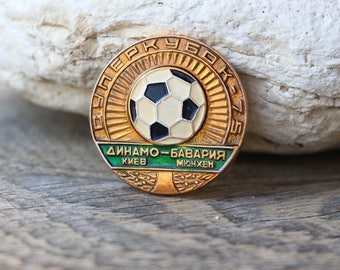 Football club pin Soviet Sports pin Super cup pin 1975 pin vintage USSR pin Soviet badges Sport gifts Football gift Soccer gifts for coaches