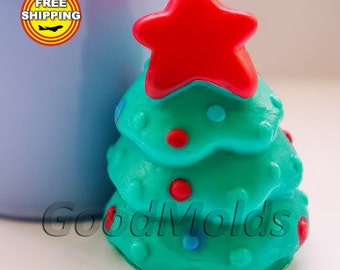 Little Christmas Tree soap mold silicone molds mold for soap mold christmas mold silicone mold new year mold free shipping