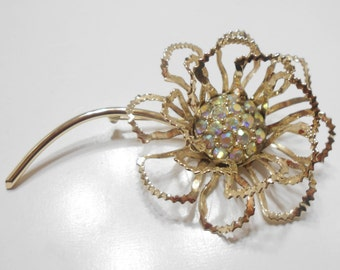 Vintage 1968 Sarah Coventry Allusion Flower Brooch (936)