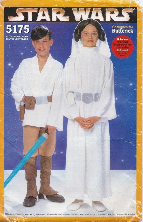 UNCUT Luke and Leia Costume Sewing Pattern Butterick 5175