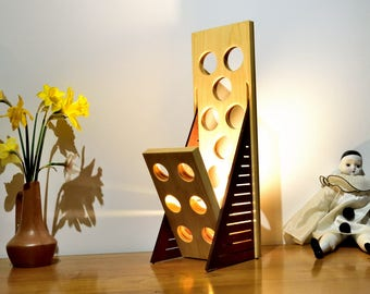 HALITO Lamp in  Sipo and tulip tree oiled